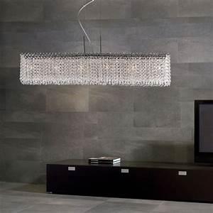 Rectangle crystal chandelier lights