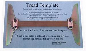 Collins tool company stair tread template set lay stair for Stair tread template tool