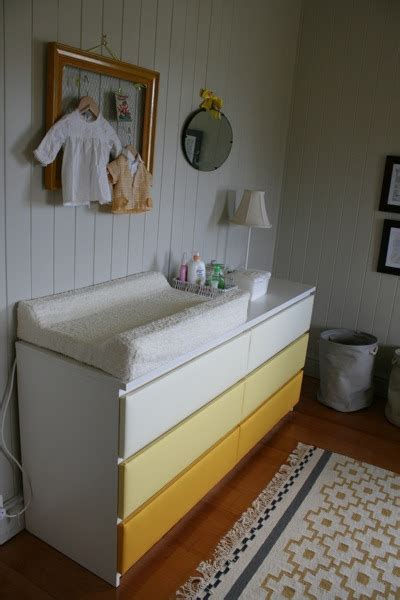 letterbox  ikea malm drawers change table nursery upholstery makeover