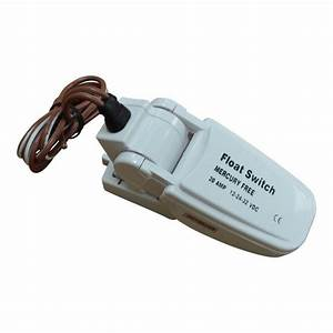 Bilge Pump Float Switch  20a Rating  Mercury Free