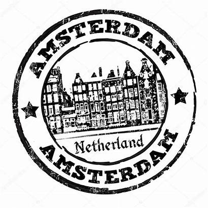 Amsterdam Stamp Word Vector Rubber Grunge Illustration