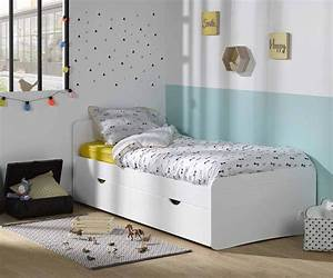 Lit Maison Enfant : pack lit enfant willow blanc 90x190 cm avec sommier et matelas ~ Farleysfitness.com Idées de Décoration