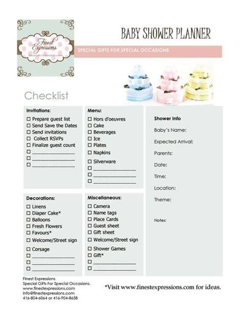 Baby Shower Planner Template by Baby Shower Planning Baby Shower Planner Checklist