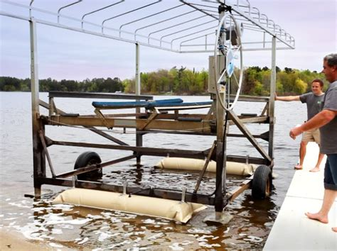 Harbor Master Boat Lift by Boat Lift Helper How It Works Boat Lift Installation