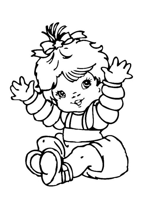 Cute Baby Girl Coloring Pages Baby Coloring Pages : Free