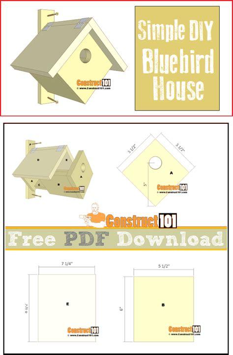 simple bluebird house   construct