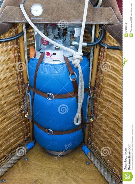 hot air balloon lp propane gas  gondola stock images