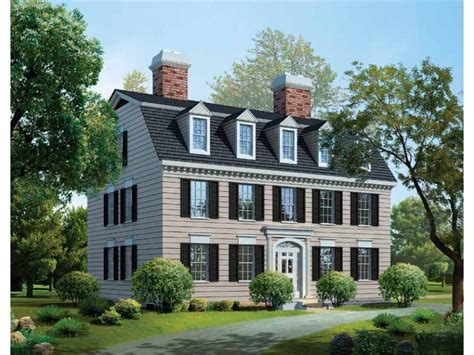 Federal House Plans federal colonial style house plans