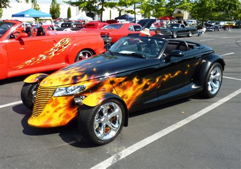 Plymouth Prowler does its best In Today's Traffic