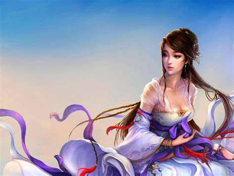 princess china girl   cg abstract background