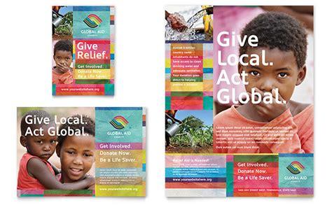 humanitarian aid organization flyer ad template design