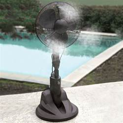 Patio Misting Fans Home Depot evaporative misting fan the green head