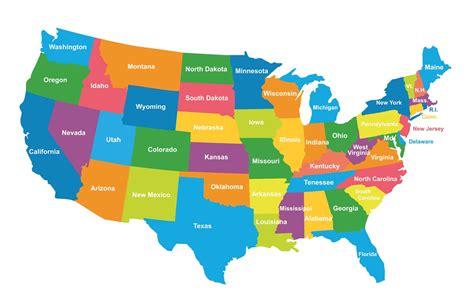 USA Political Map (Colored Regions Map) ePhotoPix