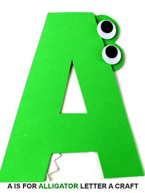 alligator letter  craft  kid