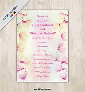 watercolor floral wedding invitation card design With 123 wedding invitations online