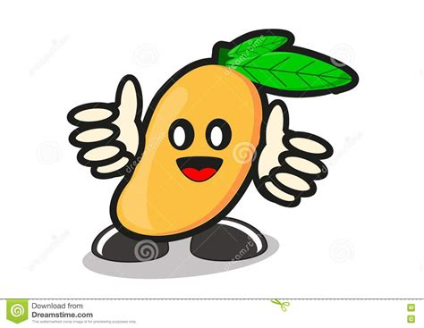 Illustration Of Cartoon Mango Stock Illustration