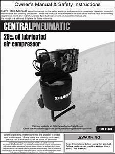 Harbor Freight 29 Gal 2 Hp 150 Psi Cast Iron Vertical Air