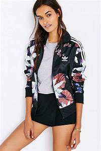 adidas Lotus Print Track Jacket Urban Outfitters