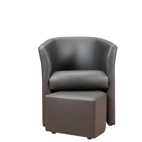 fauteuil cabriolet avec pouf baya fauteuil pouf en simili cabriolet gris achat vente fauteuil pvc polyur 233 thane