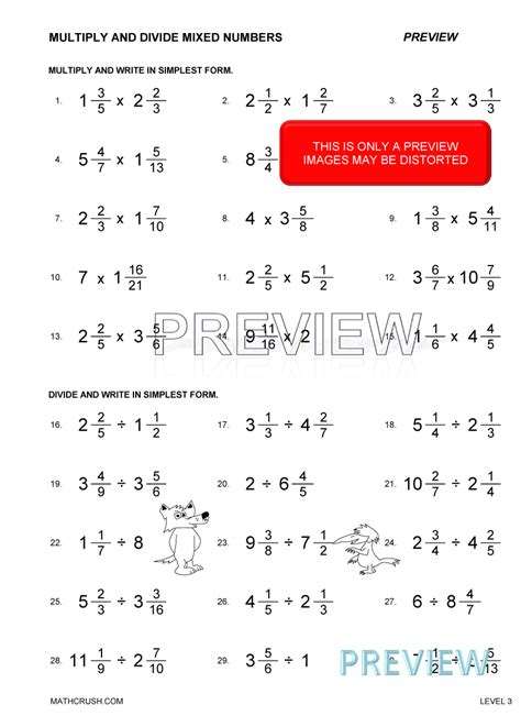 Worksheets By Math Crush Fractions