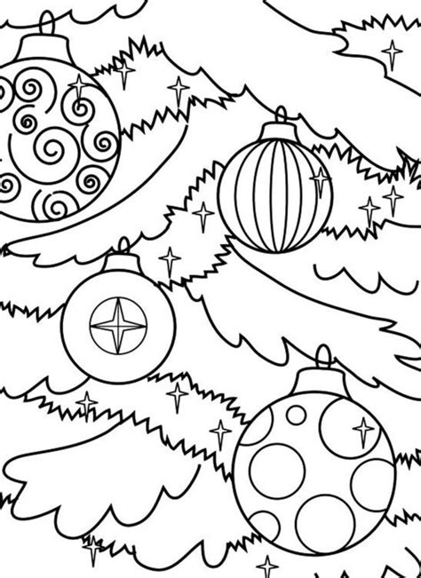 christmas ornament tree to color ornament coloring page wallpapers9