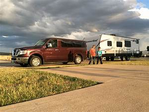 The Nissan Nv Passenger 3500 Sl Tows Our Travel Trailer All Over The Place