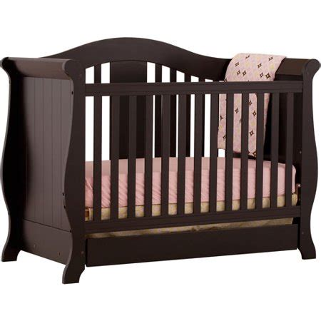 stork craft cribs stork craft vittoria 3 in 1fixed side convertible crib in
