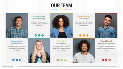 Team Biography Slides For Powerpoint Presentation