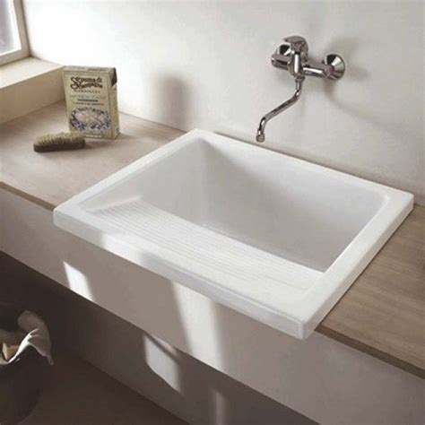 clearwater ceramic utilitylaundry sink  flip top waste