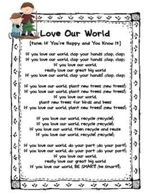earth songs for preschoolers earth day poems and songs pre k ideas poem 440