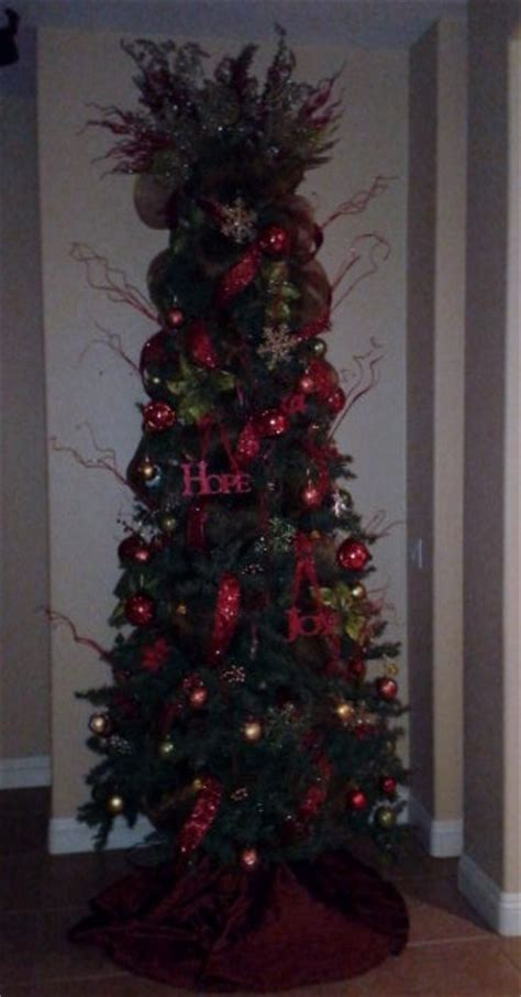 9ft slim christmas tree christmas decorating pinterest
