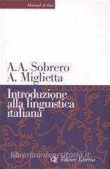 libreria universitaria lecce introduzione alla linguistica italiana sobrero alberto a