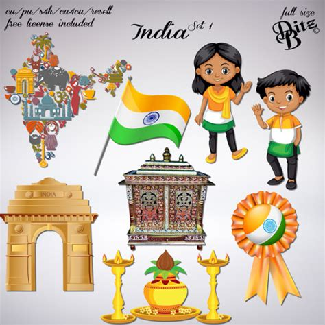 india set   images india digital scrapbooking