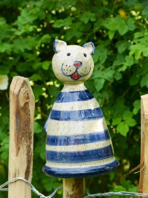Gartendeko Katze Holz by Zaunhocker Pfostenhocker Zaungast Garten Katze