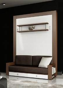 Lit Avec Armoire : armoire lit avec canape squadra couchage 140cm tiroirs ~ Teatrodelosmanantiales.com Idées de Décoration