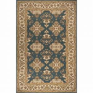 Momeni persian garden teal blue rug 039425358380 for Momeni rugs