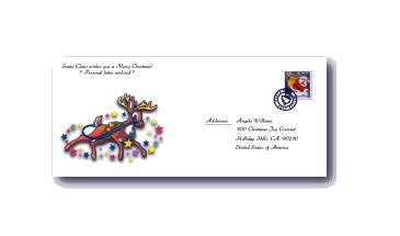 printable santa envelopes printable  letters