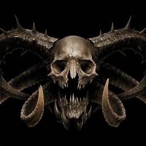 Demon Skull iPad wallpaper | skulls | Pinterest ...