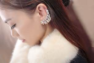 diamond ear cuff forget studs or chandeliers make a statement ear cuff