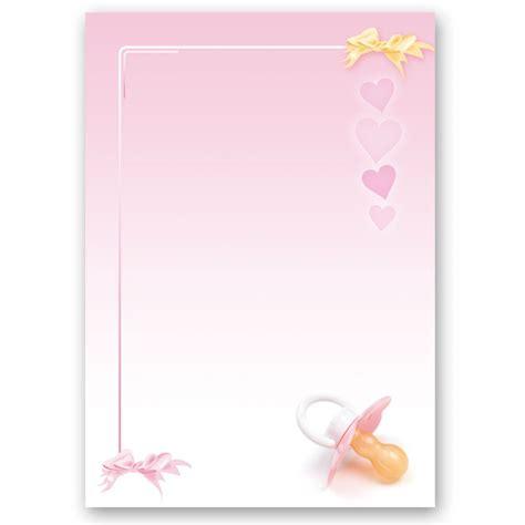 tlg motiv briefpapier set baby schnuller rosa
