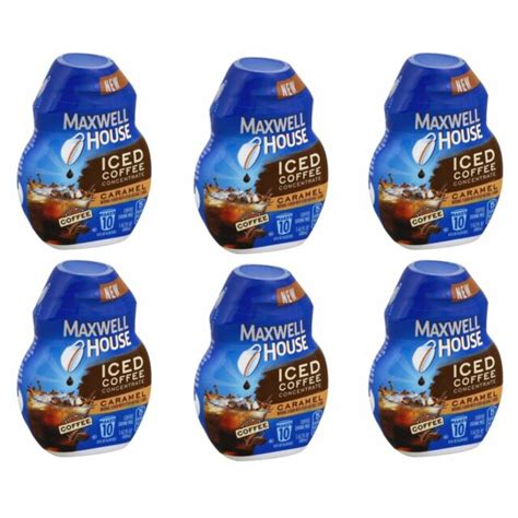 To prepare, pour additional cooled brewed maxwell house coffee (any variety) into ice cube trays. Maxwell House Iced Coffee Liquid Concentrate Vanilla Drink ...