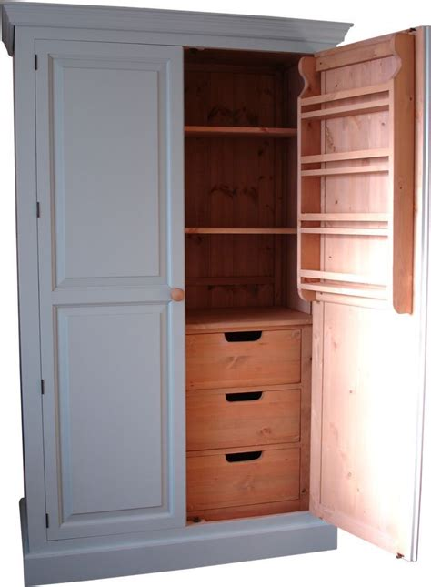 Freestanding Pantry Cupboard by Kitchen Larder Cupboard Unit Solid Wood Made Uk Free