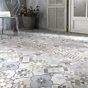 Carreaux De Ciment Exterieur : carrelage sol mix couleur effet terre cuite villa x l ~ Dailycaller-alerts.com Idées de Décoration