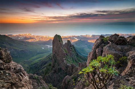 วอลเปเปอร์ : แนวนอน, พระอาทิตย์ตก, ทะเล, เนินเขา, หิน ...