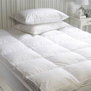 goose feather down mattress topper enhancer cover With down feather bed cover