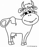 Coloring Pages Herd Cows Popular sketch template