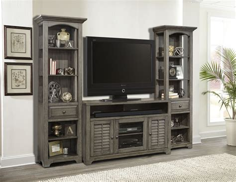 Austin Earl Grey 3 Piece Entertainment Wall From Parker