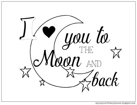 I You To The Moon And Back Kleurplaat by I You To The Moon And Back Coloring Pages