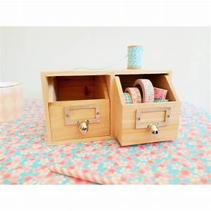 Tiroir De Rangement Bois : rangement bureau 2 tiroirs en bois ~ Melissatoandfro.com Idées de Décoration