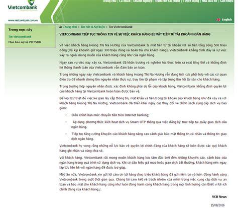 Vietcombank Thay đổi Quy Trình Giao Dịch Đăng Ký Smart